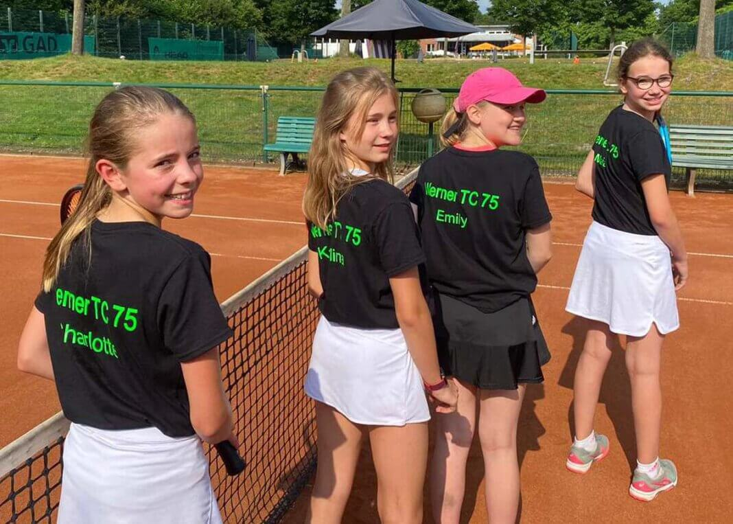Die U12-Mädchen des Werner Tennis-Clubs beendeten die Sommersaisons sehr erfolgreich. Foto: WTC