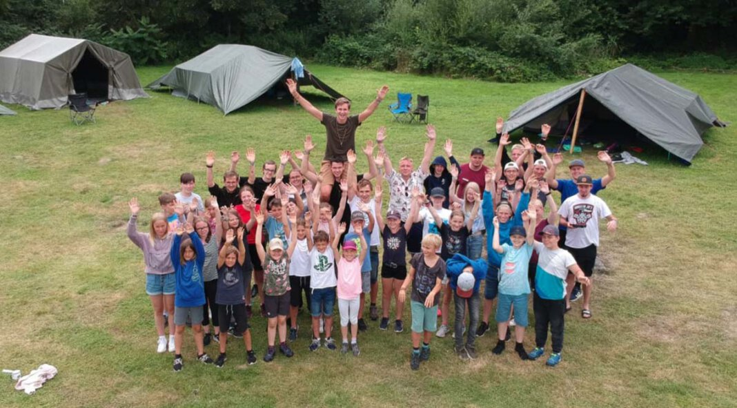 Eine Menge Spaß hatten die Kinder im zweiwöchigen Zeltlager der Kloster- und Kolpingjugend. Foto: Dammermann