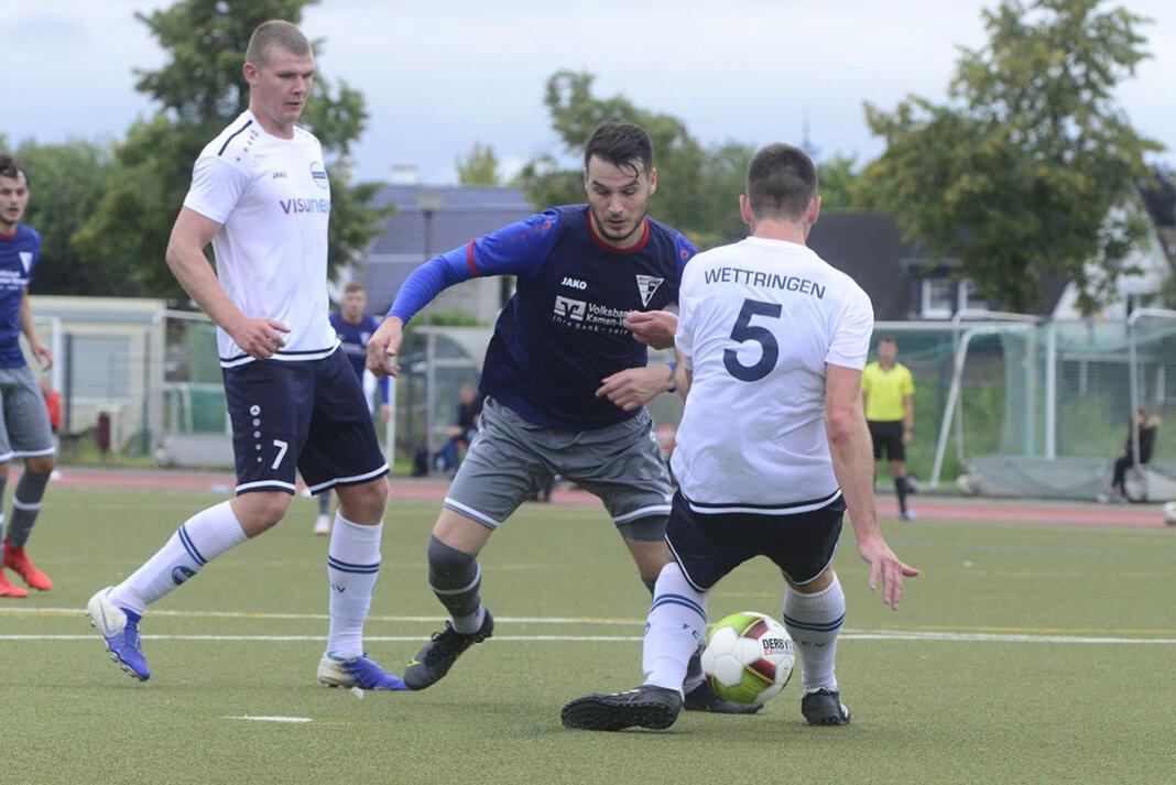 Fußball-Landesligist Werner SC spielte zum Saisonauftakt 1:1 gegen Vorwärts Wettringen. Foto: Jörg Stengl