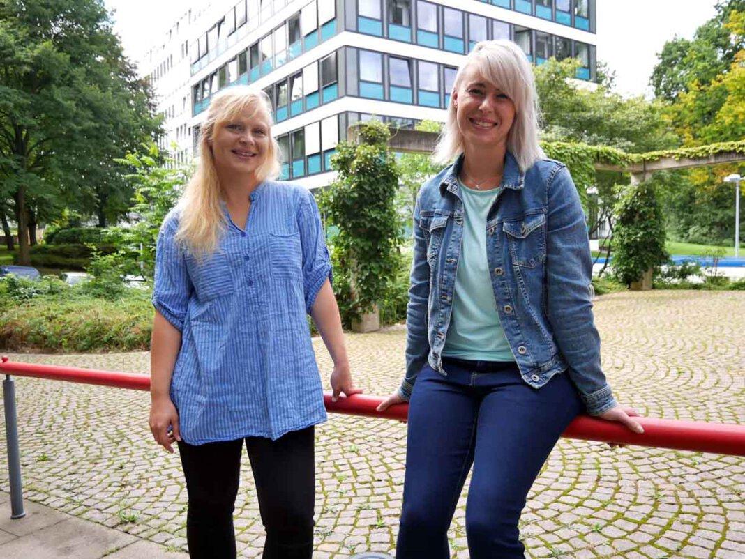 Neues Team der Schwangerschaftskonfliktberatung: Simone Saarbeck (links) und Saskia Wierdeier. Foto: Birgit Kalle – Kreis Unna