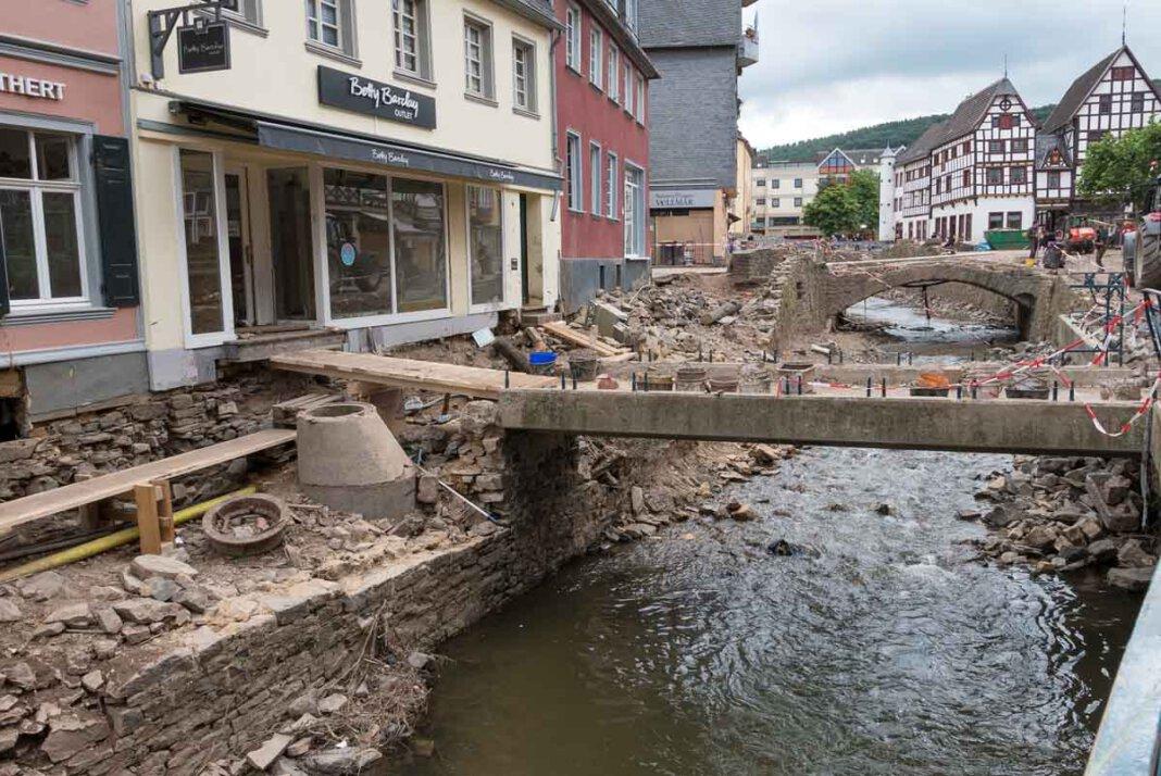 Eine Bild der Verwüstung bot sich den heimischen THW-Kräften in Bad Münstereifel. Foto: Jörg Prochnow