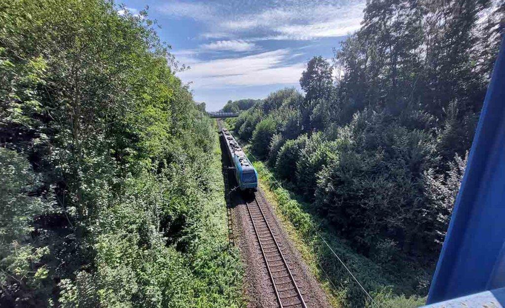 Aus eins mach' zwei: Die Chancen auf ein zweites Gleis zwischen Münster und Dortmund sind deutlich gestiegen. Foto: Wagner