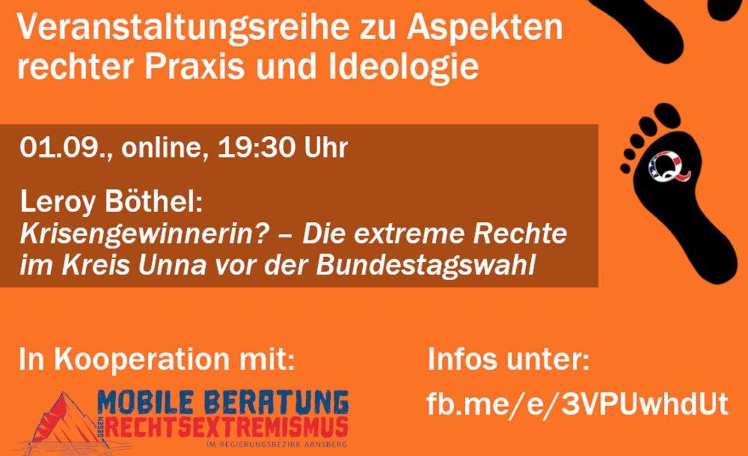 Die Themen der Veranstaltungen reichen demnach von rechten Parteien und der Bundestagswahl über Rechtsterrorismus bis hin zu den Querdenken-Protesten. Foto: BgR
