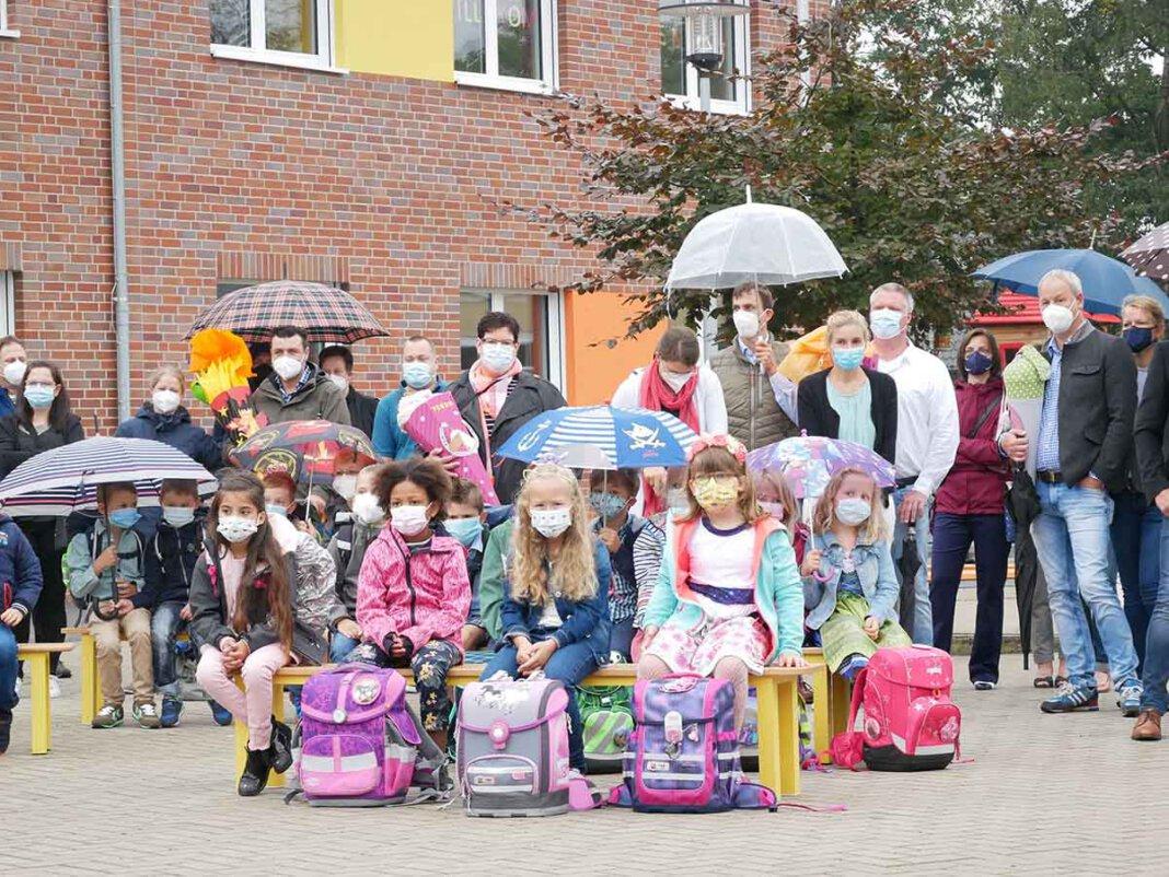 Nach der Einschulung von fünf Eingangsklassen ist die Uhlandschule in Werne nun komplett fünfzügig. Foto: Gaby Brüggemann