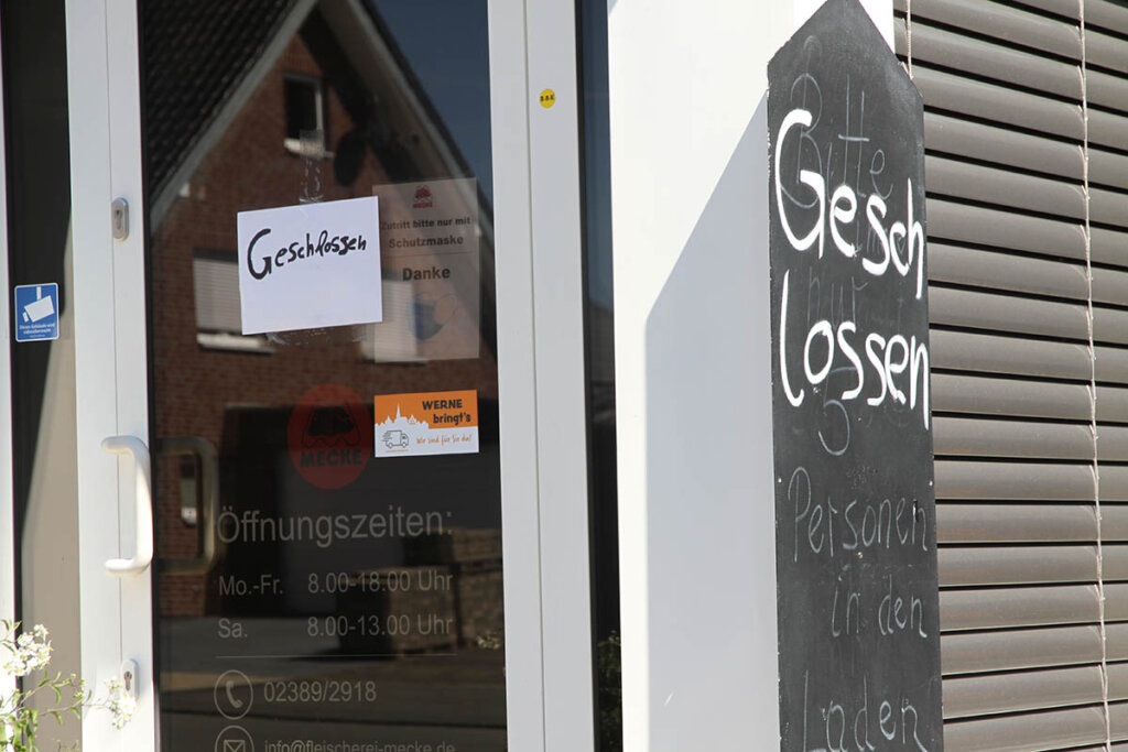 Die Anzeichen verdichten sich, dass das Ladenlokal der Mecke GmbH in Werne geschlossen bleiben könnte. Foto: Wagner