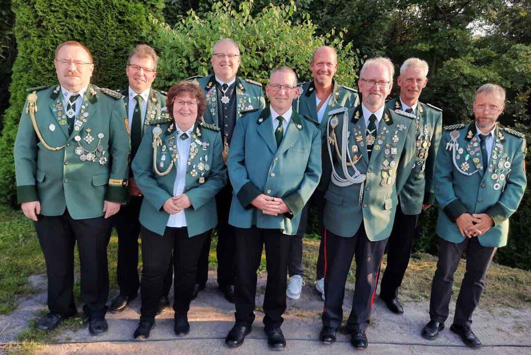 Der Vorstand des Schützenvereins Lütkeheide. Foto: Privat