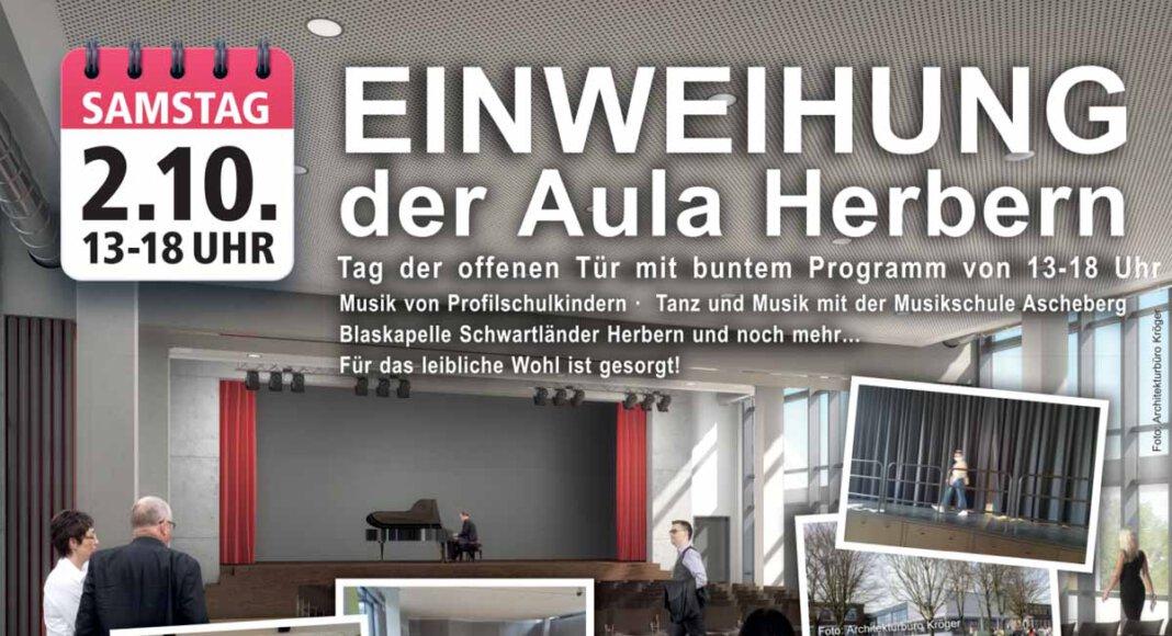 Die Aula Herbern wird am kommenden Samstag (2. Oktober) offiziell eingeweiht. Foto: Gemeinde Ascheberg