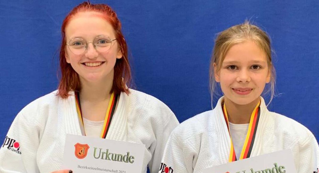 Jule Rüschenschmidt und Lea Konert (links) vom TV Werne qualifizierten sich für die Westdeutschen Meisterschaften im Judo. Foto: TVW