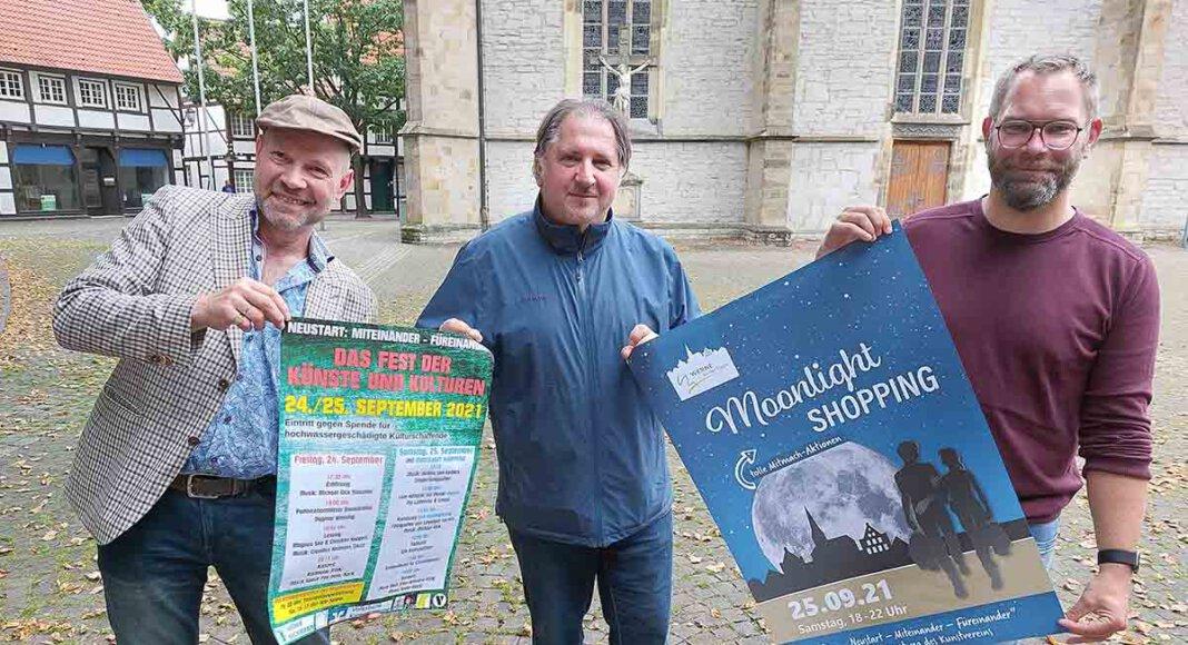 Hubertus Waterhues (von links), Darko Vukovic und David Ruschenbaum stellten das Programm für das Wochenende 24./25. September vor. Foto: Wagner
