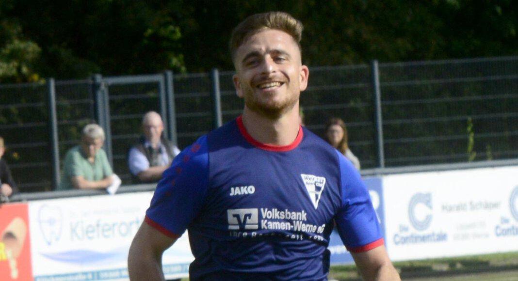 Hatte allen Grund zum Jubeln: Der eingewechselte Jussef Saado erzielte vier Tore im Pokalspiel gegen Gremmendorf. Foto: MSW