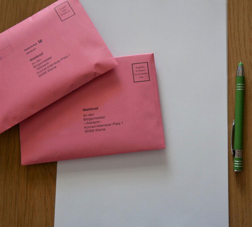 Beim Druck und Versand der Stimmzettel gab es eine Panne: In wahrscheinlich nur Einzelfällen sind Stimmzettel aus dem Wahlbezirk Heinsberg in Werne und auch Lünen aufgetaucht. Darauf hat am Freitag Sven Henning für die Stadt Werne hingewiesen. Foto: Gaby Brüggemann