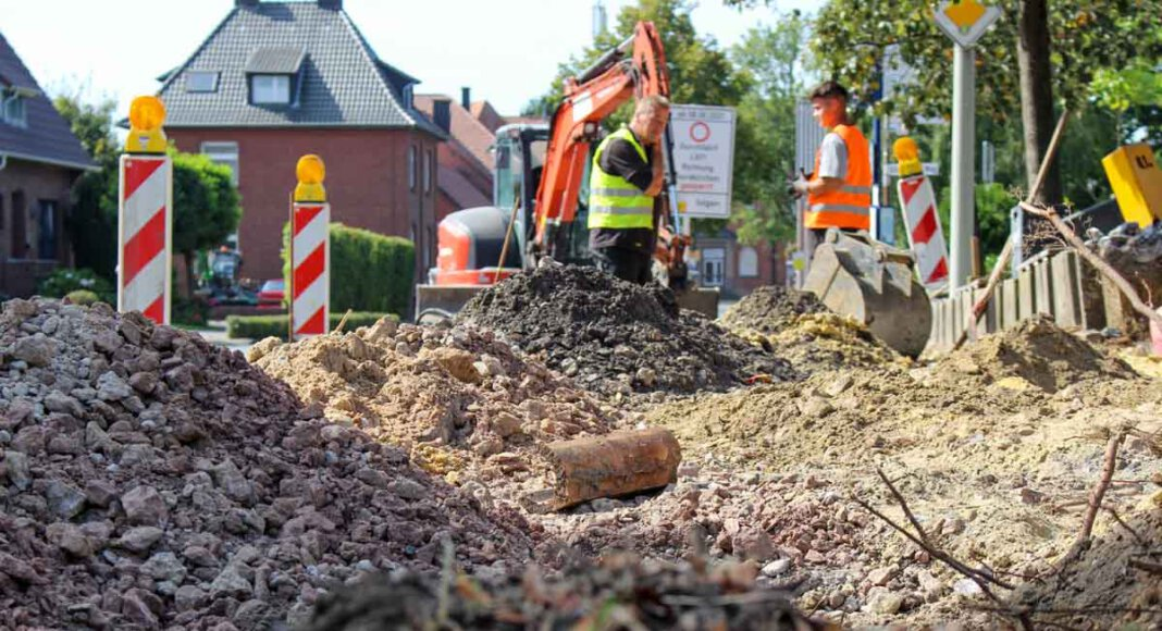 In Capelle hat der Bau der ersten Mobilstation begonnen. Foto: Gemeinde Nordkirchen