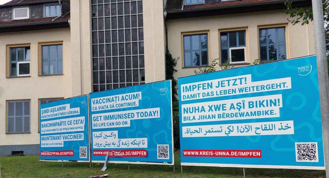 Mit einer Kampagne wirbt die Kreisverwaltung: Impfen jetzt! Damit das Leben weitergeht. Foto: Wagner