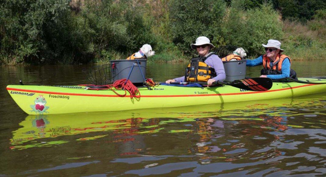 Susanne Hildebrandt und Hermann Thiebes, hier mit ihrem Kanu unterwegs, wurden in Potsdam mit dem DKV-Zeichen geehrt. Foto: Privat