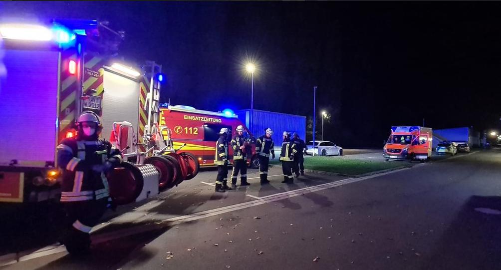 Der Löschzug 1 der Freiwilligen Feuerwehr Werne hatte bei Klingele die Lage schnell unter Kontrolle. Foto: Feuerwehr Werne
